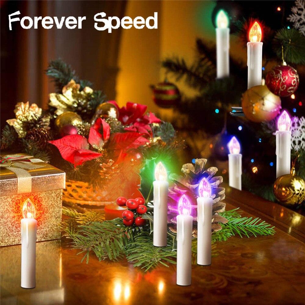 60 шт. светодиодный подсвечник с зажимами для дома, вечерние свадебные украшения, дистанционное управление, светодиодный беспламенный беспроводной рождественские свечи, лампа - 4