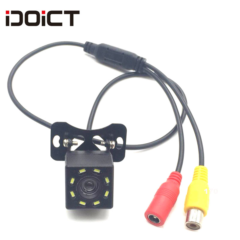 IDOICT водонепроницаемый HD 170 градусов угол sony/MCCD 8LED Автомобильная камера заднего вида