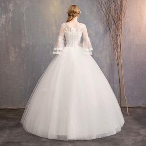 Image 3 - 新デザインホット販売クラシックシンプルな白 Viory ボールガウン Noiva Casamento ファッションローブ · デ · マリアージュ 7 スリーブカスタムメイド