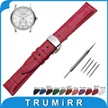 18mm 20mm 22mm 24mm Genuine Leather Watch Band for Armani Stainless Butterfly Buckle Strap Wrist Belt Bracelet + Spring Bar