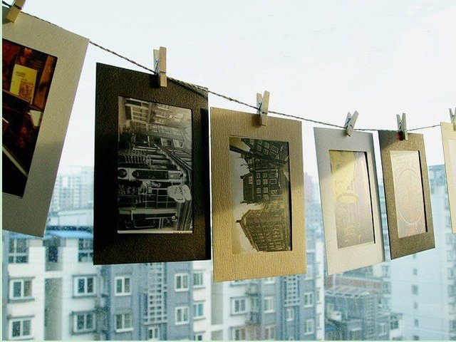 Creative DIY hanging frame wall background of living room decoration kraft paper photo Album 3sets/lot  free shipping