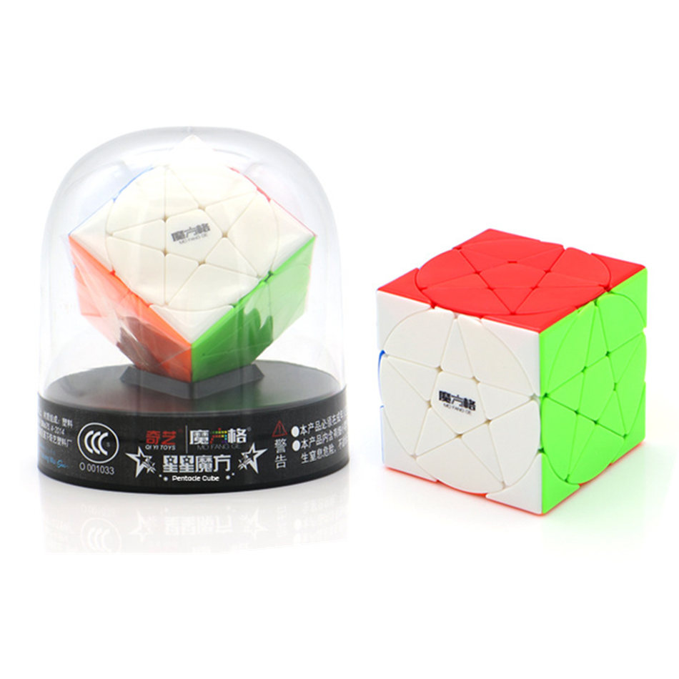 Qiyi Pentacle 3x3 Cube Magic Cube Speed Cube Puzzle Star Twist Cubes Toys For Children Kids Gift