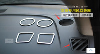 For jeep compass 2011-2014 ABS Interior Air Vent Outlet Cover Trim 4 Pcs