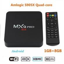 Smart TV Box MXQ pro 4 k Amlogic S905X Quad-core H.265 4K @ 60fps Android 6.0 Media Player 1 GB 8 GB HD 1080 P En Streaming set top boîte