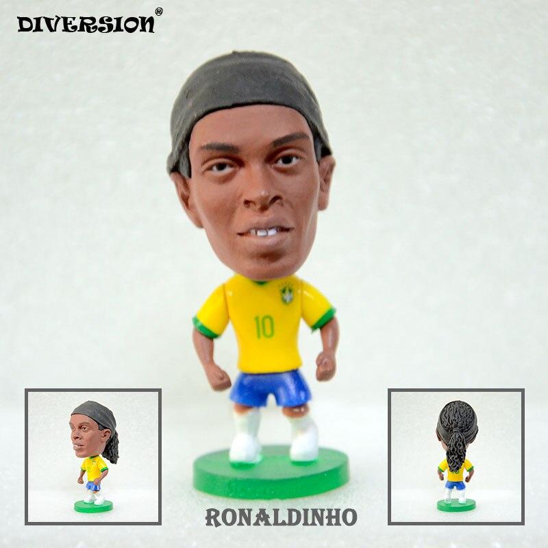 Soccer Player Star 10# RONALDINHO (BRA-2002) 2.5 Toy Doll Figure soccerwe