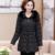 Quinquagenário wadded jaqueta feminina inverno 40-50 algodão-acolchoado jaqueta espessamento outerwear roupas mãe de algodão acolchoado-