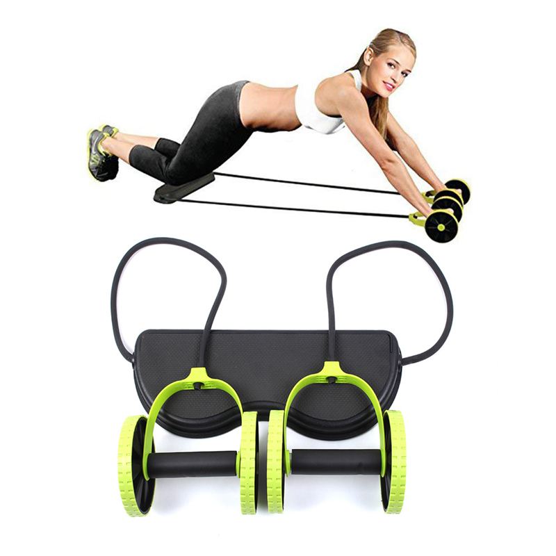 Muscle Exercise Equipment Ab Roller Double Wheel Abdominal Trainer Power Wheel Arm Waist Leg Exercise Multi-functional Home Gym image