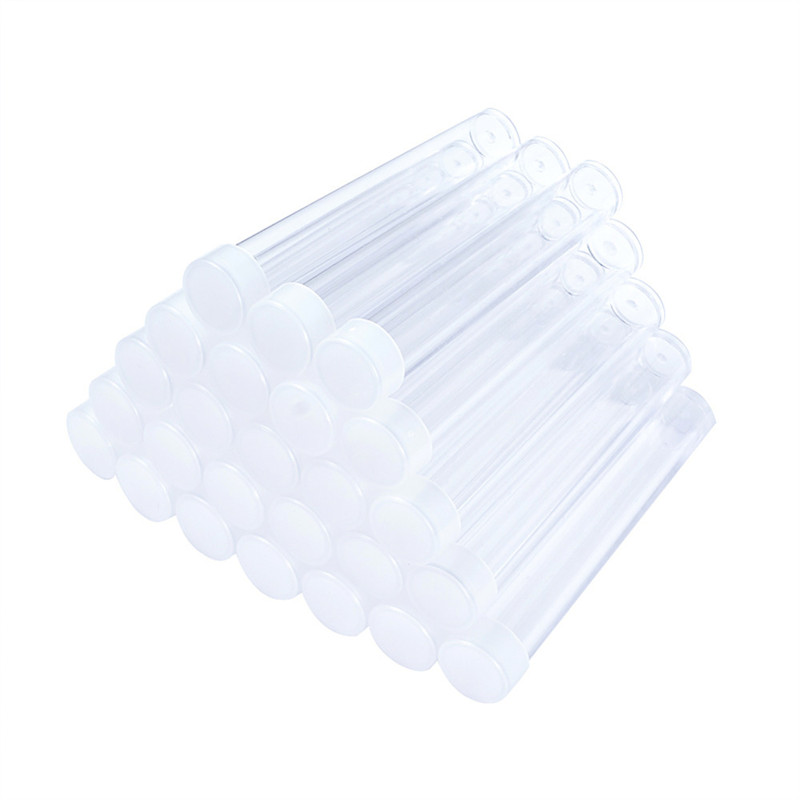 Pandahall 100pcs Clear Plastic Tube Bead Containers For Storage Bottle Jewelry Packaging Jars About 78mm Long, 13mm Wide F60