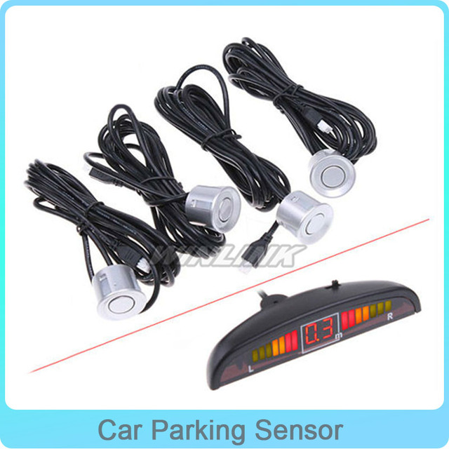 New Wireless LED Car Parking Sensor with 4 Sensors Radar Car Rear LED Display for Distance Detect Color Option Universal Pattern