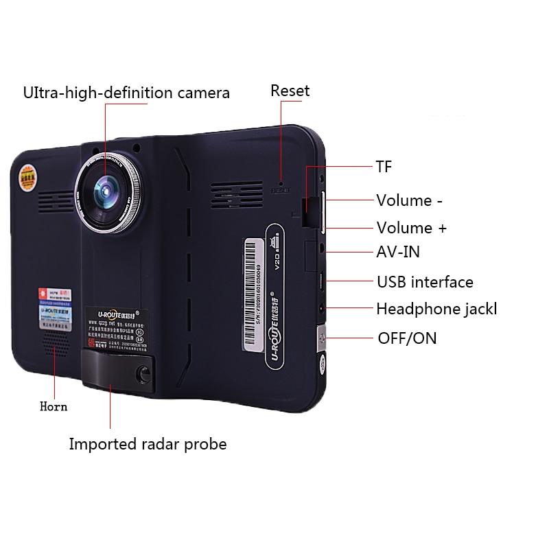 sbhei 7 pulgadas GPS Navegación GPS detector de radar android con - Electrónica del Automóvil - foto 4