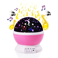 New Projection Lamp Music Night Light Projector Spin Star Moon Sky Children Kids Baby Sleep Romantic