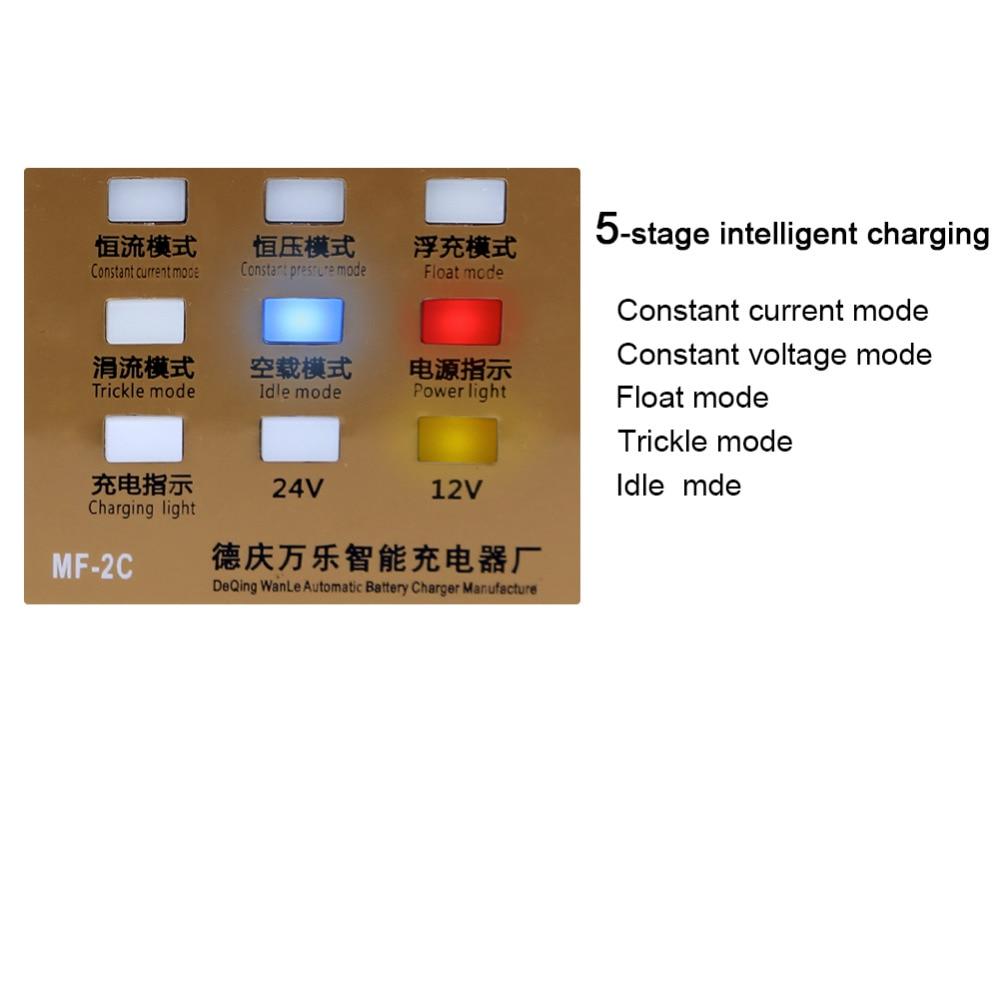 110 V / 220 V W pełni automatyczna elektryczna ładowarka - Części samochodowe - Zdjęcie 6