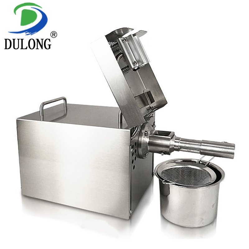 Stainless steel coconut oil press machine automatic mustard oil extraction machine olive oil press machine