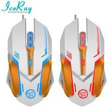 IceRay Качество USB 6D Проводная Оптическая Компьютерная Мышь Gaming С Slient Кнопка Для Gamer Comfortable Holding