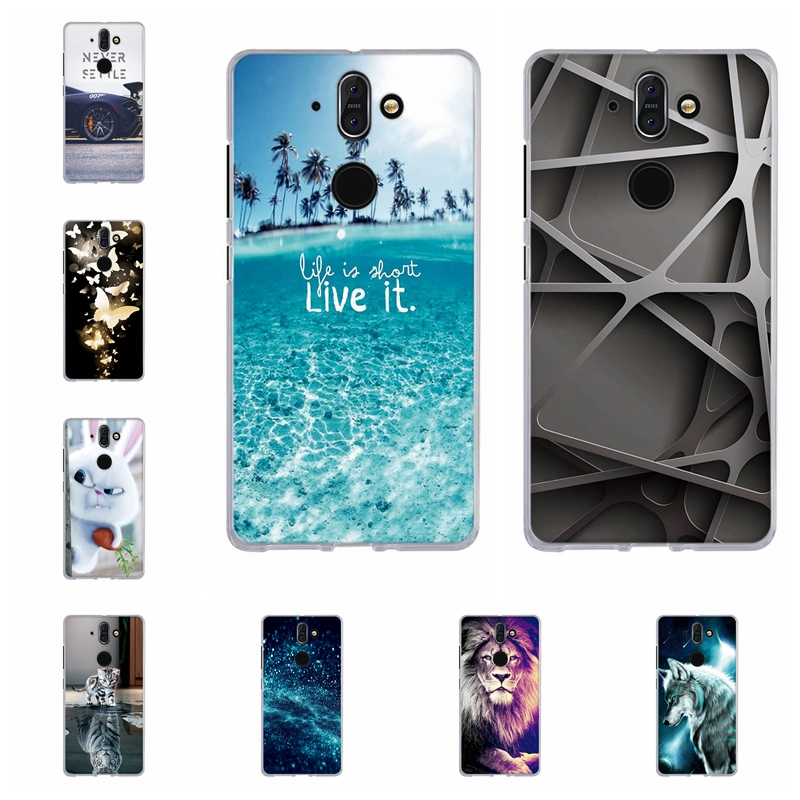 For Nokia 8 Sirocco Cover Ultra Slim Soft TPU Silicone For Nokia 8Sirocco Case Cute Patterned For Nokia 8 sirocco Funda Shell