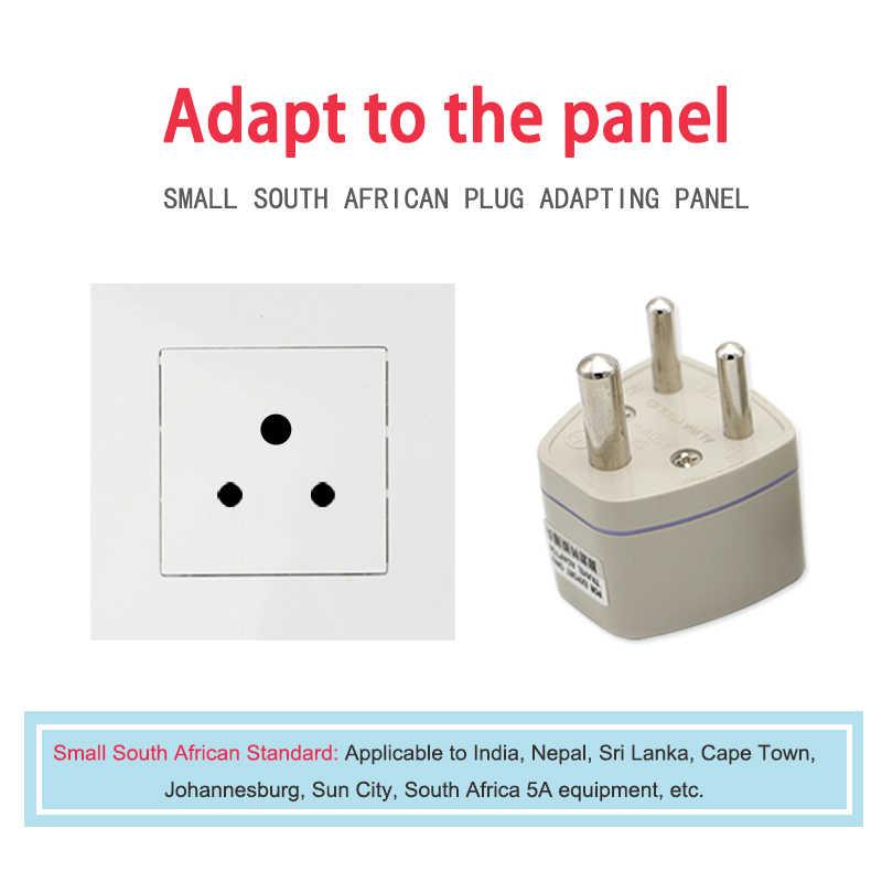 Uniwersalny wielka brytania/US/EU/AU do małych republika południowej afryki wtyczka AC mocy wielu wylot Adapter 3 pinowe adapter podróżny gniazdo indie
