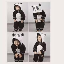 Panda Pattern Ski W Water Proof Material Baby Girls Boys Winter Coat Baby Long Sleeve