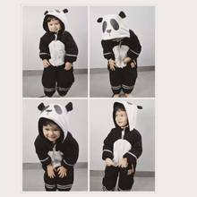 Mini Rodini Panda Pattern Ski W/Water Proof Material  Baby Girls Boys Winter Coat Baby Long Sleeve  Jacket Cicishop