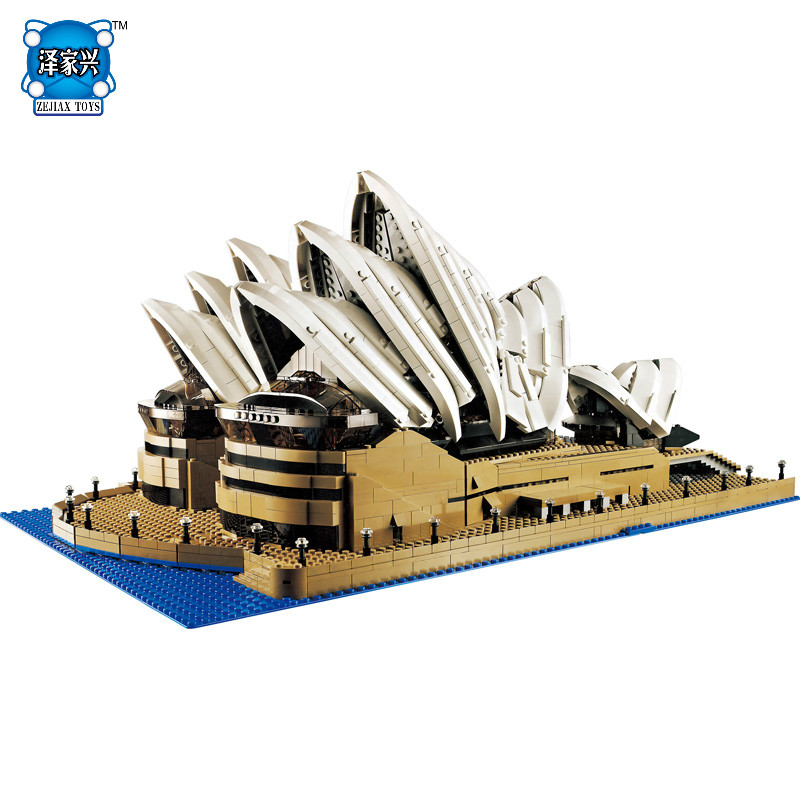 NEW Street View Series Sydney Opera House Collection Gift 3017 Pcs Building Blocks Children Compatible Lepins Construction Toys new lp2k series contactor lp2k06015 lp2k06015md lp2 k06015md 220v dc
