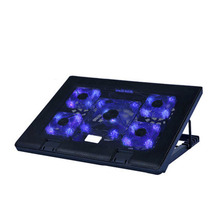 цена на 18 inch laptop cooler stand 5 LED fan notebook cooling pad with speed control