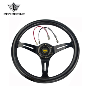NEW 14inch 350mm Carbon Fiber Style OMP steering wheel automobile race modified PQY-SWL07CF
