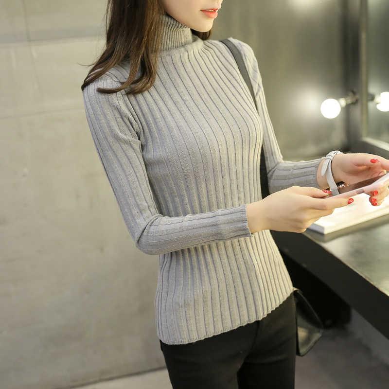 OHCLOTHING 2017 ชุดฤดูหนาวใหม่เสื้อคอเต่าเกาหลีหญิงหนา slim slim เสื้อคอเต่า