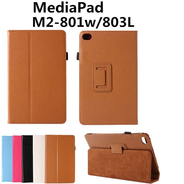 Ultra Slim Litchi 2-Folder Folio Stand Leather Cover Protector Case For Huawei MediaPad M2 8.0 M2-801W M2-803L M2-802L Tablet встраиваемая акустика speakercraft profile accufit ultra slim one single asm53101 2