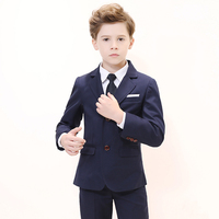Boys Suit For Wedding Kids Blazer Birthday Party Suit Costume Enfant Garcon Mariage Jogging Garcon Boys British style Tuxedo