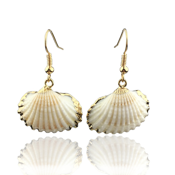 Boho Natural Cowrie Shell Earrings For Women Bohemian Scallop Beach Jewelry oorbellen boucle doreille femme 2020 aretes mujer