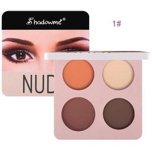 Colour Makeup 4 Color Eye Shadow Dish Dark Blue Eye Shadow Wine Red Eyeshadow Matte Makeup Dish Eyeshadow Palette #3(China)