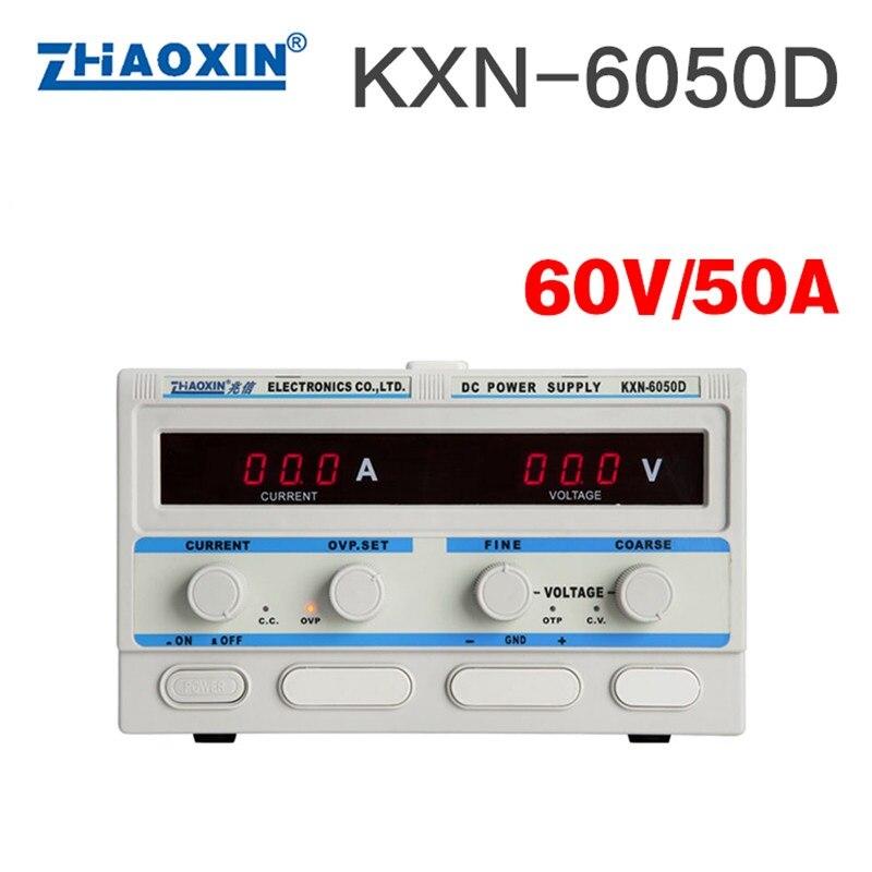 KXN-6050D 0-60 V 0-50A réglable haute puissance DC commutateur DC alimentation batterie Test Charge vieillissement Instrument de réparation