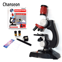 Microscope Kit Lab LED 100X 400X 1200X Home School Science Educational Toy Gift Refined Biological Microscope
