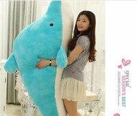 stuffing toy , huge 140cm Dolphin doll plush Toy, birthday Gift w9489
