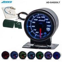 """"""" /52 мм 7 цветов светодиодный датчик температуры масла для автомобиля, указатель дымовых линз, универсальный автомобильный измеритель AD-GA52OILT"""