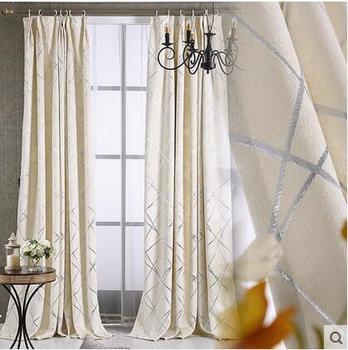 Современные Геометрические вышитые шторы для гостиной/спальни плотные шторы для обработки окна/шторы домашний декор