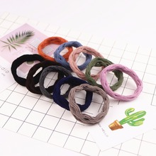 10PCS Wave Pattern Elastic Cotton Hair Bands Girl Scrunchy Gum Rubber Band Hairgrip Accessories