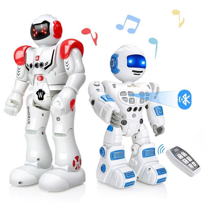 DODOELEPHANT Criança Inteligente Robô de Brinquedo de Controle Remoto RC Robô Com Cantar Dança Figura de Ação Brinquedos Para Meninos Presente de Aniversário Das Crianças