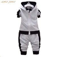 ALVA ZUVA Spring Autumn Baby Boys Girls Sports Clothing Sets Children Hoodies Coat Pants 2Pcs Suit