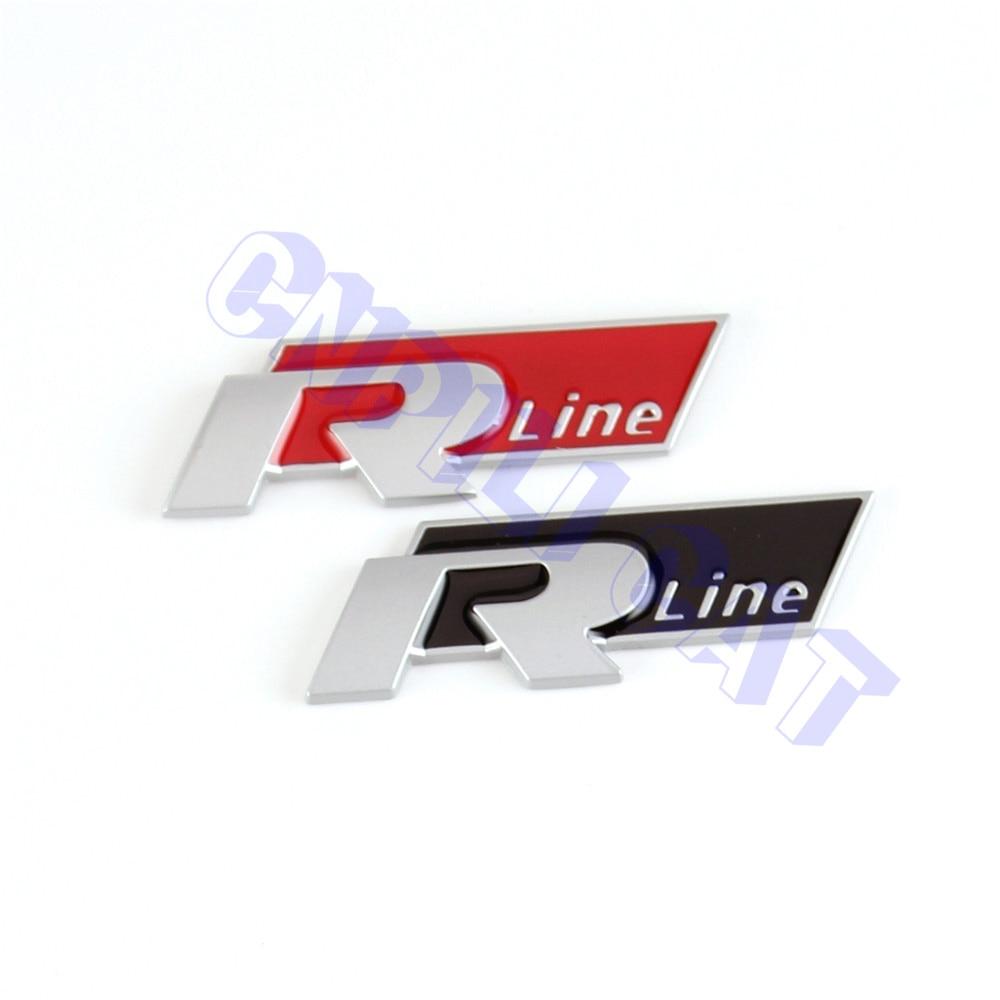 BLACK/RED 3D R-Line Matte Car Body Rear Emblem Sticker for VW Polo Golf MK4 Sagitar Touareg CC Etc. thermostat housing assembly yu3z8a586aa 902204 yu3z8a586 97jm9k478ae for d explore r 4 0l v6 for d range r