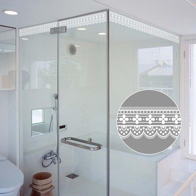 pvc wallpaper mirror decorative corner line wall sticker fashion