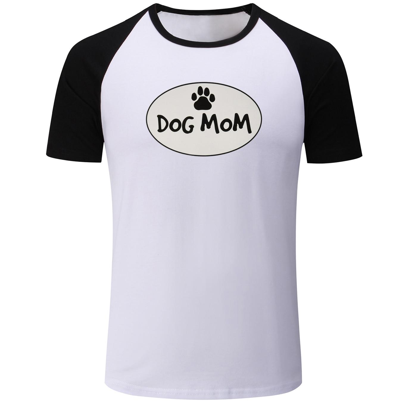 Смешная собака MOM сердце любовь 2018 Дизайн мужские печати Повседневная футболка Графический Футболка летние топы для мальчиков