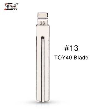Dandkey NO.13 Metal Blank Uncut Flip KD Remote Key Blade Type #13 for Hyundai IX35 For Toyota Crown TOY40/TOY48 Key Blade image