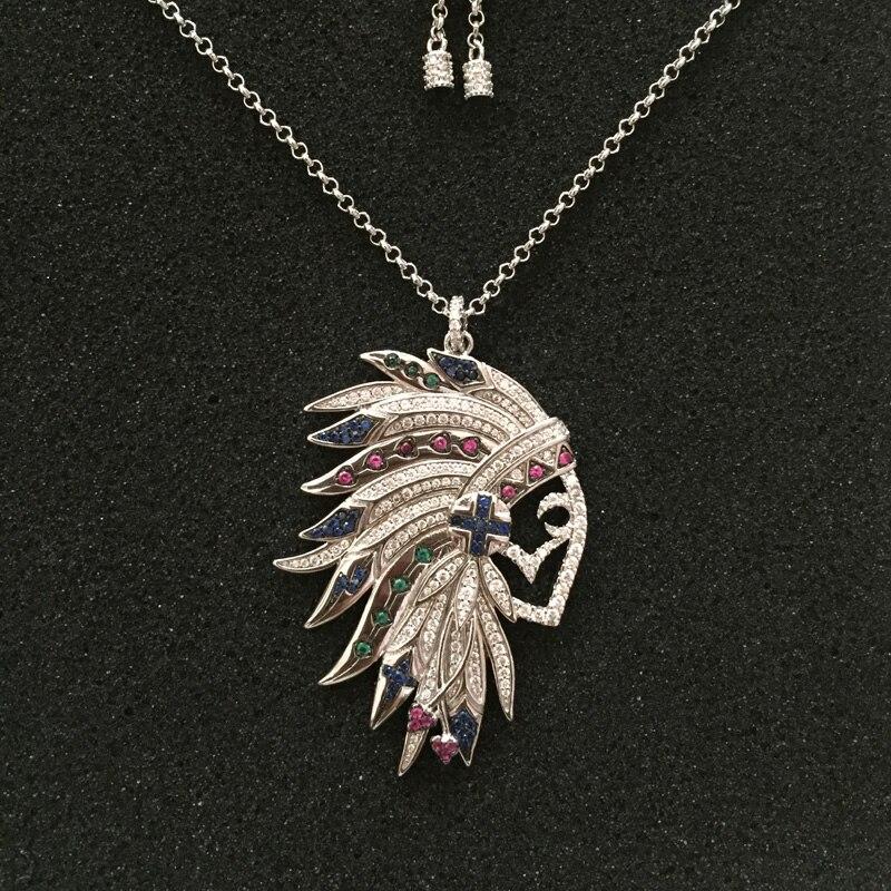 7fc8304e4f2a ... joyería nueva llegada. Cheap UMGODLY marca tribu india Precioso  colgante completa Multicolor Cubic Zirconia encanto de moda de collar