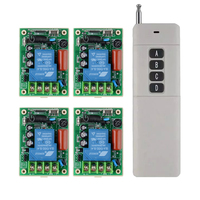 AC220V 30A Remote Control Switch Water Pump Motor LED Remote Controller Long Range Distance Transmitter 3000W