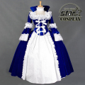 Family Matching Halloween Cosplay Lolita Dress Performance Stage Party Lace Dress Victorian Royal Ball  Mommy Daughter Dresses