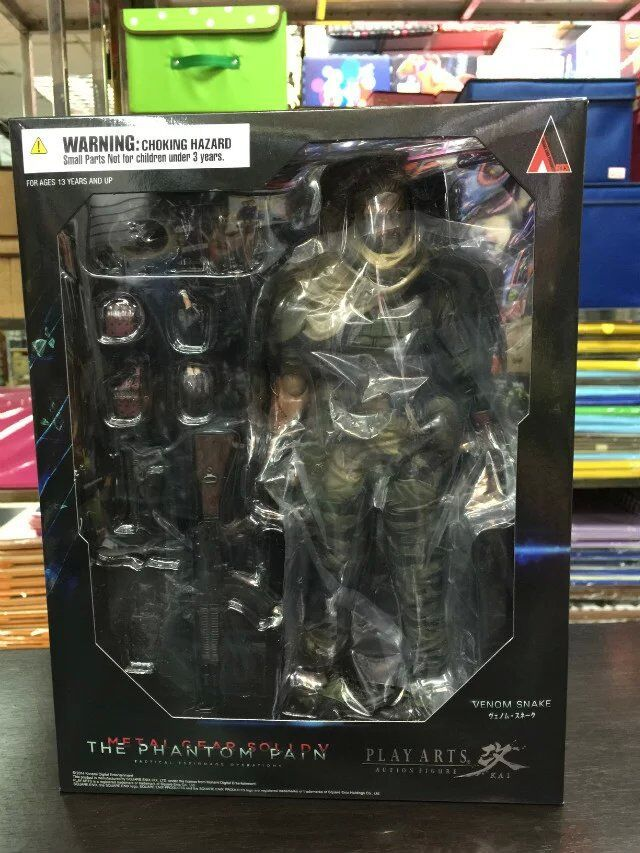 Play Arts Kai Snake Solidus Snake Metal Gear Solid GROUND ZEROES PA 27cm PVC Action Figure Doll Toys Kids Gift Brinquedos play arts marcus fenix game gears of war 3 war machine pa play arts kai 27cm pvc action figure doll toys