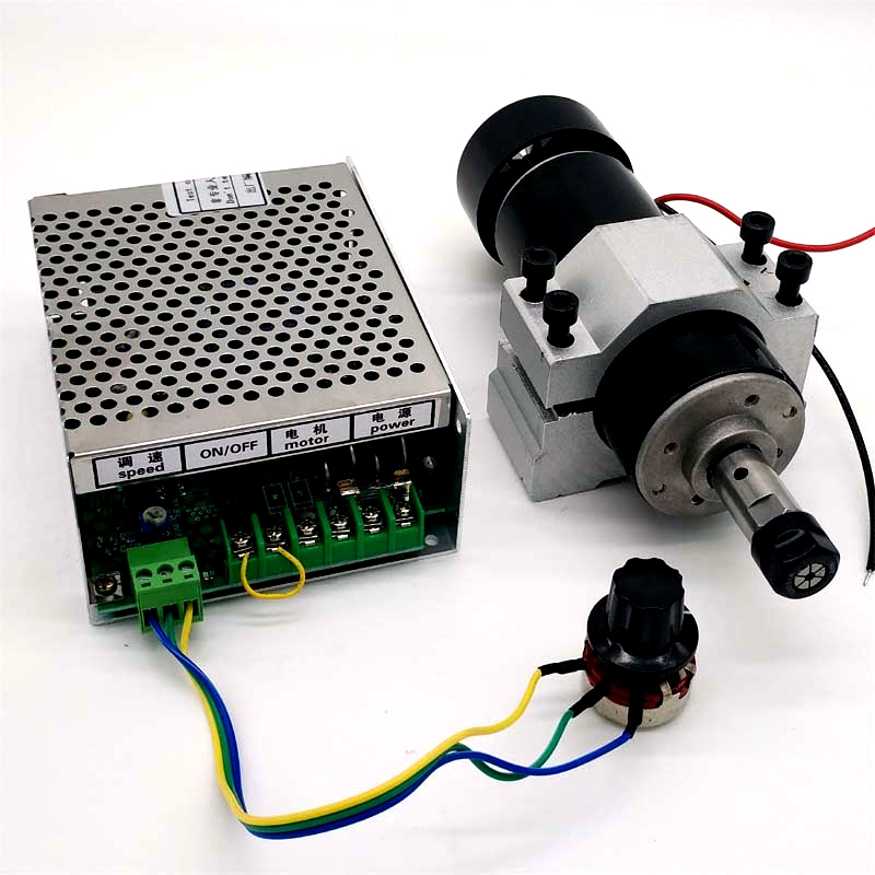 500W air cooled spindle motor speed governor jig PCB carving machine spindle ER11 12000 rpm