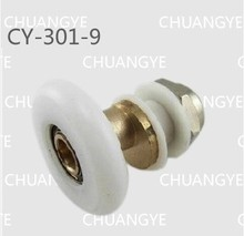 8pcs metal pulleys Shower room glass door bearing eccentric old bathroom pulley