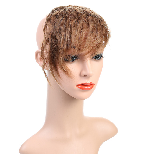 Allaosify Synthetic Hair False Bangs Clip In A Side Bangs Hair