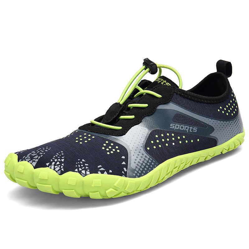 男性屋外 5 本の指ハイキングトレッキング靴夏通気性スニーカー 5 つま先ウォーキングハイキングシューズ女性